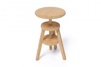 Tabouret en bois massif vernis écologique made france abc meubles