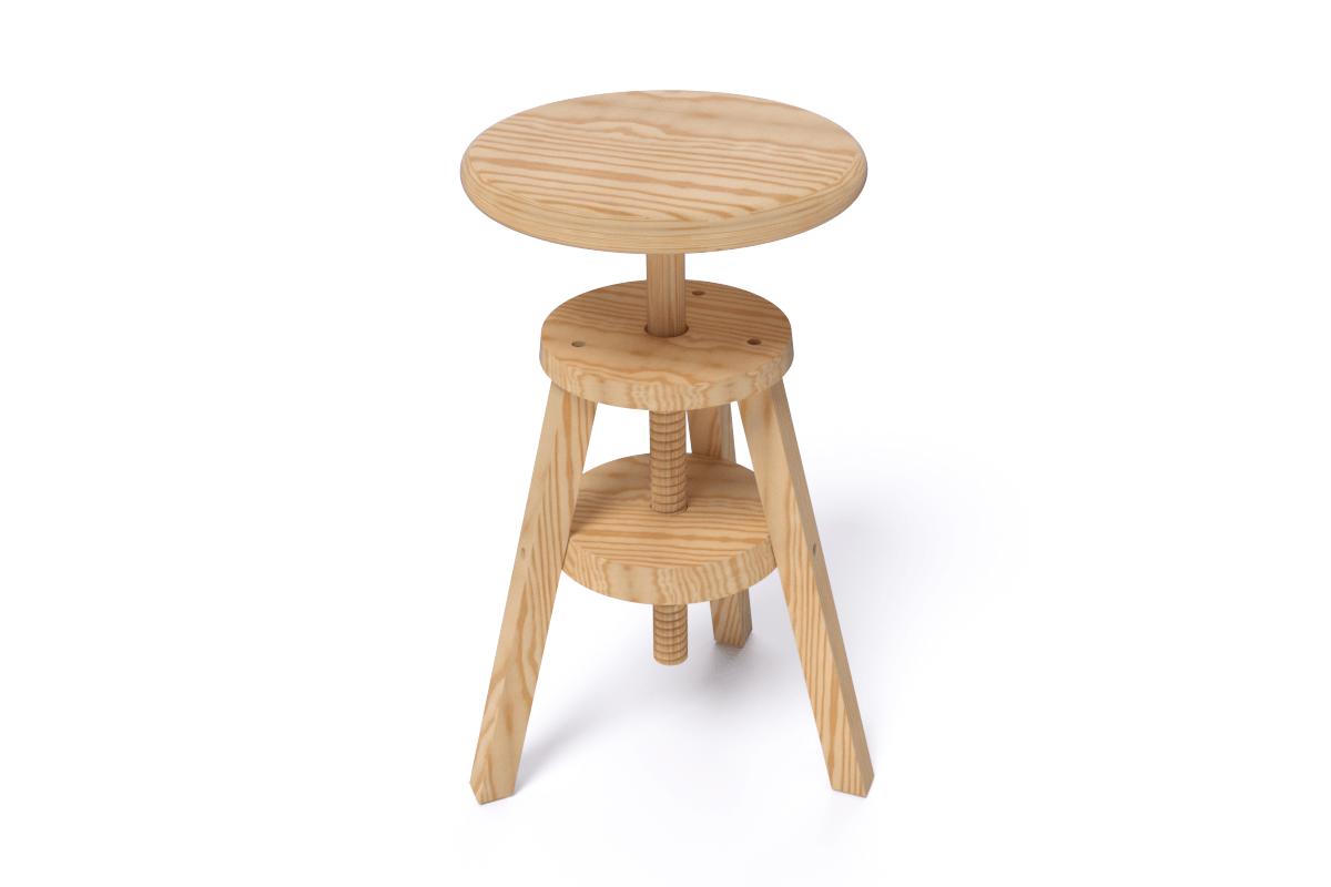 tabouret vis bois abc meubles. Black Bedroom Furniture Sets. Home Design Ideas