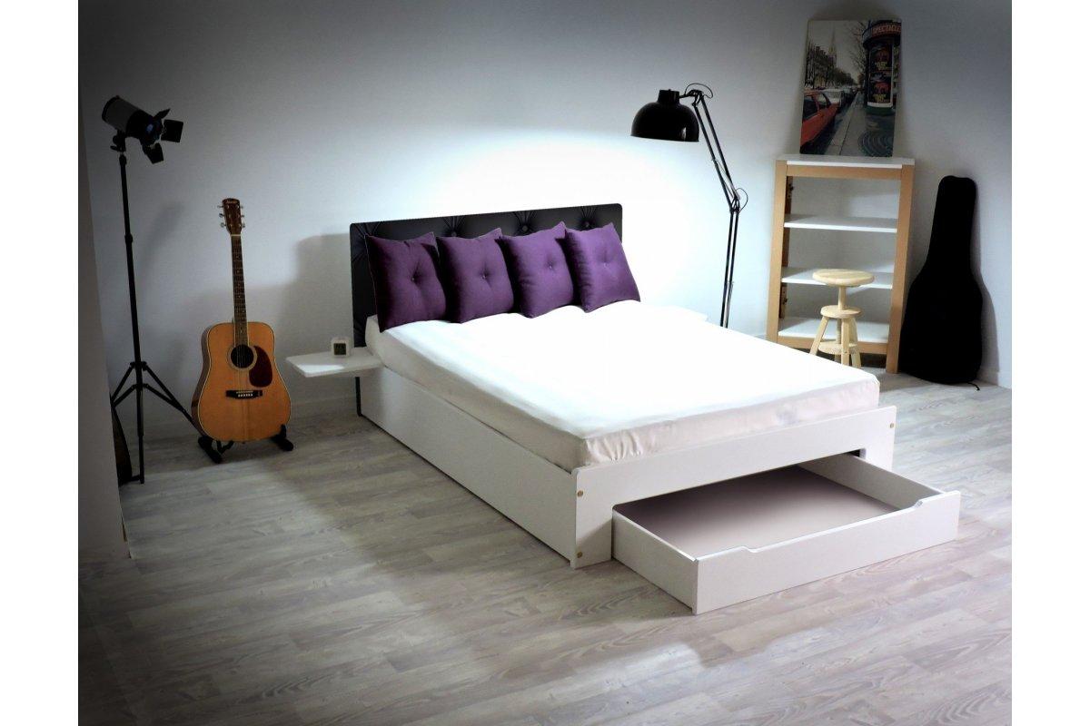 lit happy tiroir chevets amovibles 2 places abc meubles. Black Bedroom Furniture Sets. Home Design Ideas