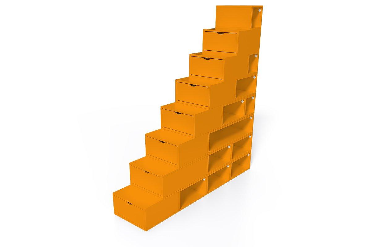 escalier cube de rangement hauteur 200 cm abc meubles. Black Bedroom Furniture Sets. Home Design Ideas