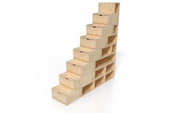 Escalier Cube de rangement hauteur 200 cm