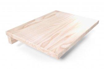 Hanging bedside table wood