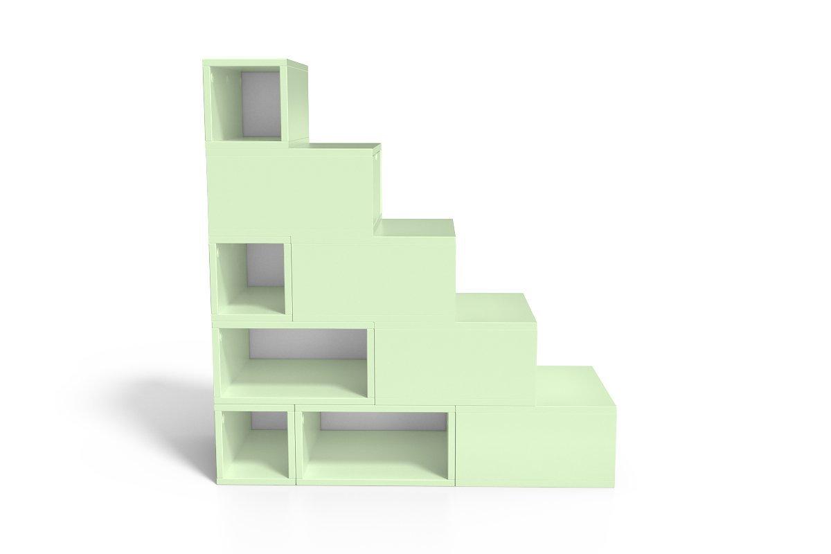 escalier cube de rangement hauteur 125 cm abc meubles. Black Bedroom Furniture Sets. Home Design Ideas