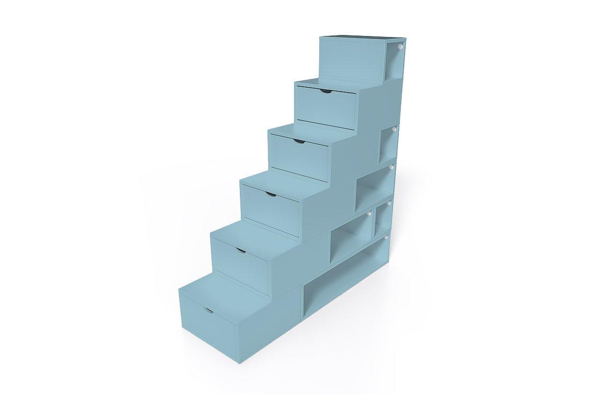 escalier cube de rangement hauteur 150cm abc meubles. Black Bedroom Furniture Sets. Home Design Ideas