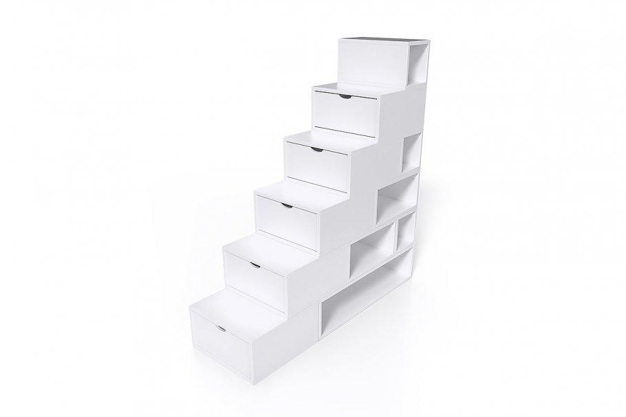 Escalier Cube de rangement hauteur 150 cm MDF