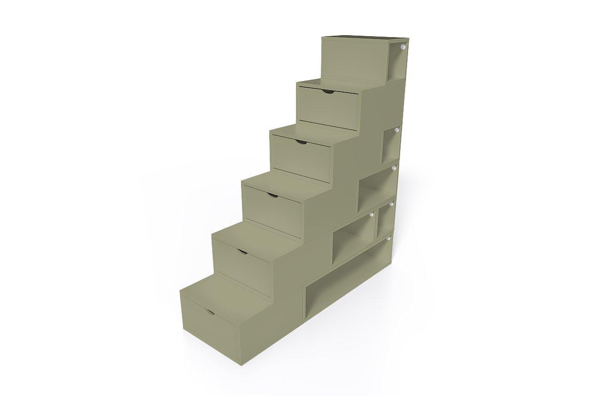 escalier cube de rangement hauteur 150 cm mdf abc meubles. Black Bedroom Furniture Sets. Home Design Ideas