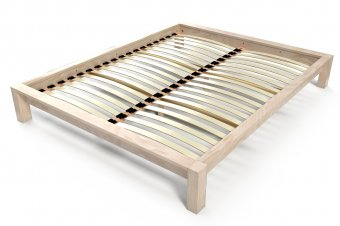 King bed 2 places wood