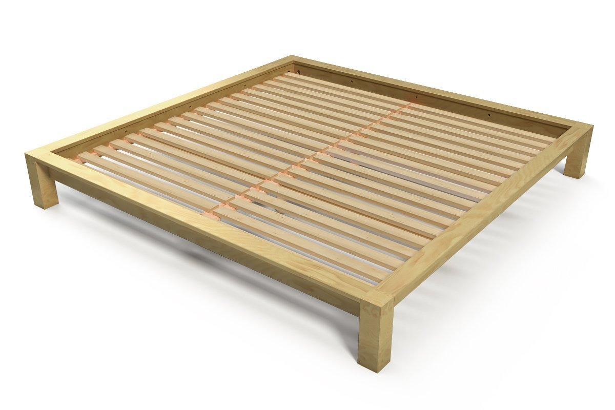 lit king size 200 x 200 cm bois abc meubles. Black Bedroom Furniture Sets. Home Design Ideas