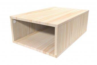 Cube de rangement 75x50 cm bois