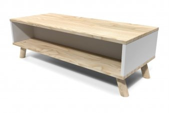 Viking Coffee Table Scandinavian Natural varnished and white