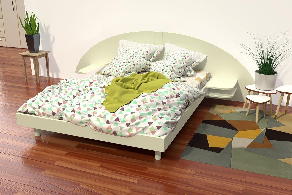 lit adulte arc bois avec t te et chevets int gr s abc meubles. Black Bedroom Furniture Sets. Home Design Ideas