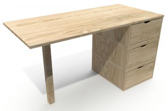 Schreibtisch boxen mit 3 Schubladen