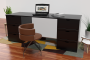 Schreibtisch lange boxen mit 6 Schubladen