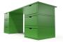 Bureau Cube long 6 tiroirs