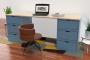 Cube desk long 6 drawers