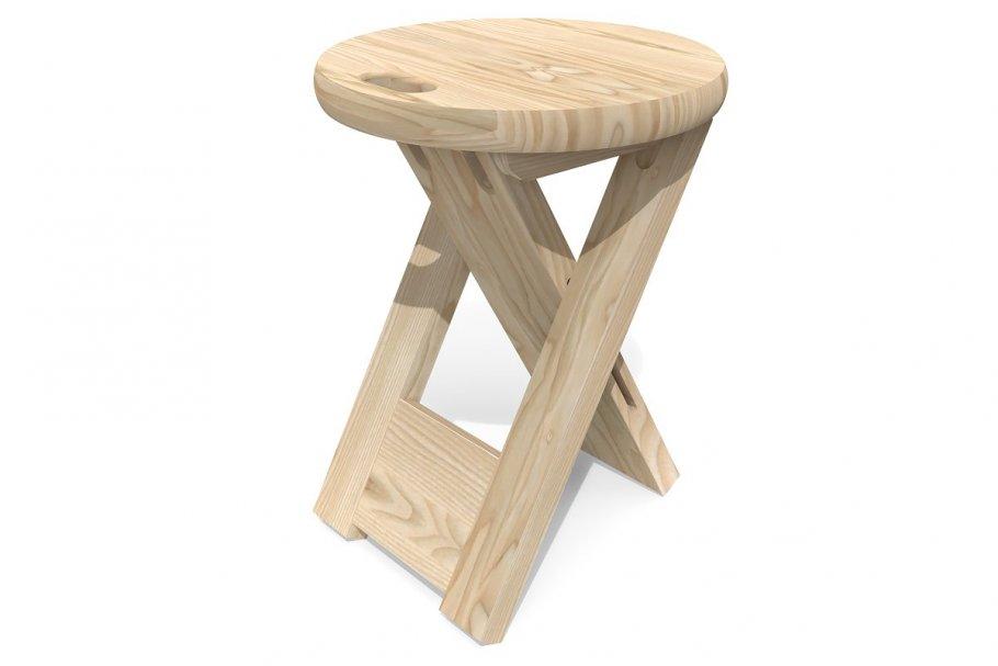 Faltbare Hocker Holz