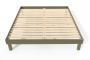 Lit confort grande taille 180x200 cm bois