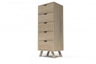 Chiffonnier 5 tiroirs Viking Scandinave bois
