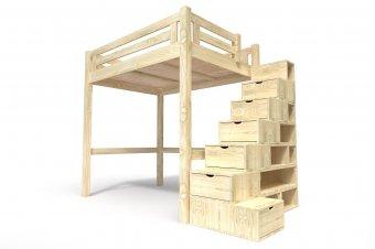 Cama Alta Alpage con escalera cubo