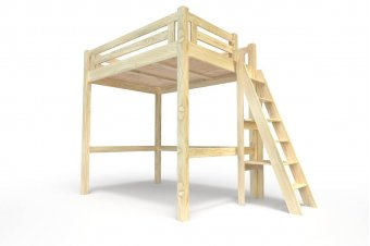 Lit Mezzanine Alpage & escalier de meunier