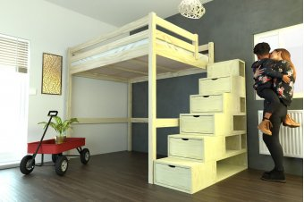 Mezzanine Sylvia avec escalier cube