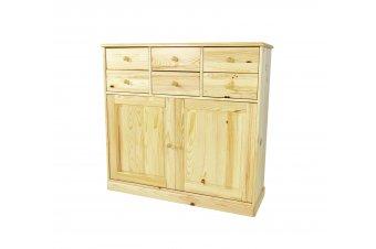 Anrichte Boreal Holz 2 Türen + 6 Schubladen