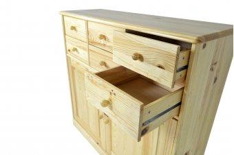 Buffet bois Boreal 2 portes 6 tiroirs