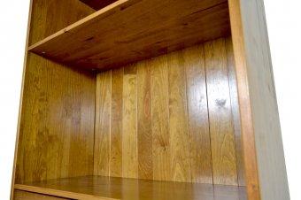 Bibliothèque bois large 3 tiroirs