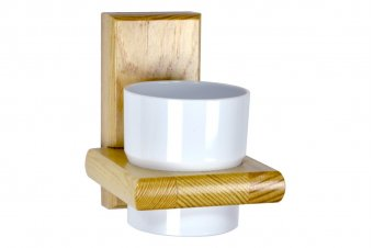 Kit salle de bain et WC bois vernis