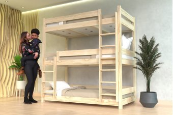 BUNK BED ABC 3 PLACES