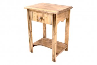 Wooden side table + drawer cherry