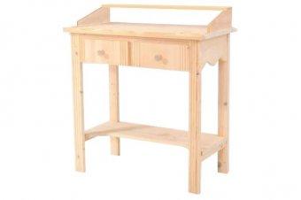 Konsole für Eingangsbereich Holz mit Ablage + 2 Schubladen