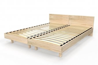 Solid wood Twin beds with headboards