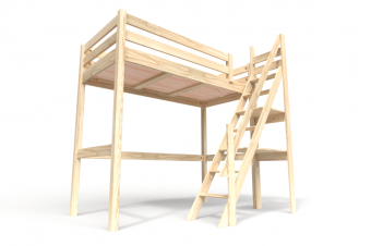 Sylvia mezzanine bed with miller staircase (steep)
