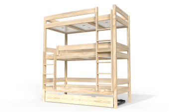 Bunk Bed ABC 4 places in solid wood 90x190