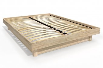 Cama de plataforma de madera maciza 2 plazas