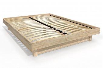 Solid wood platform bed 2 places
