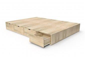 Lit cube deux places avec tiroirs