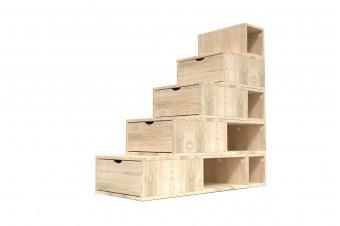 Escalier Cube de rangement hauteur 125 cm