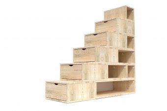Escalier Cube de rangement hauteur 150cm