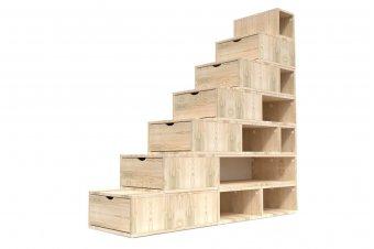 Escalier Cube de rangement hauteur 175 cm