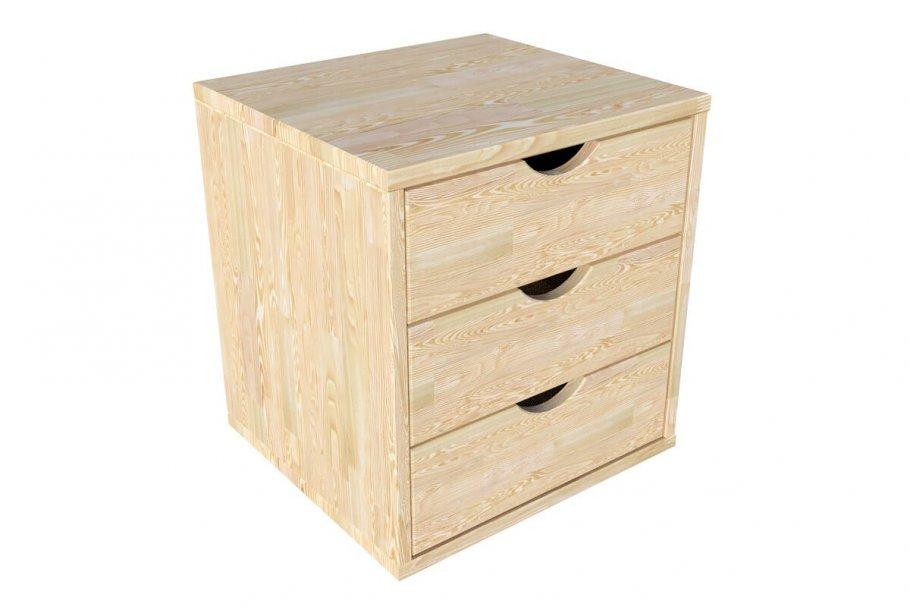 Bloc 3 tiroirs bois massif