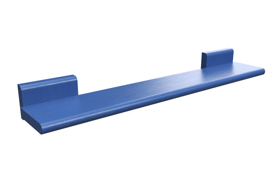 Tablette bois bleu