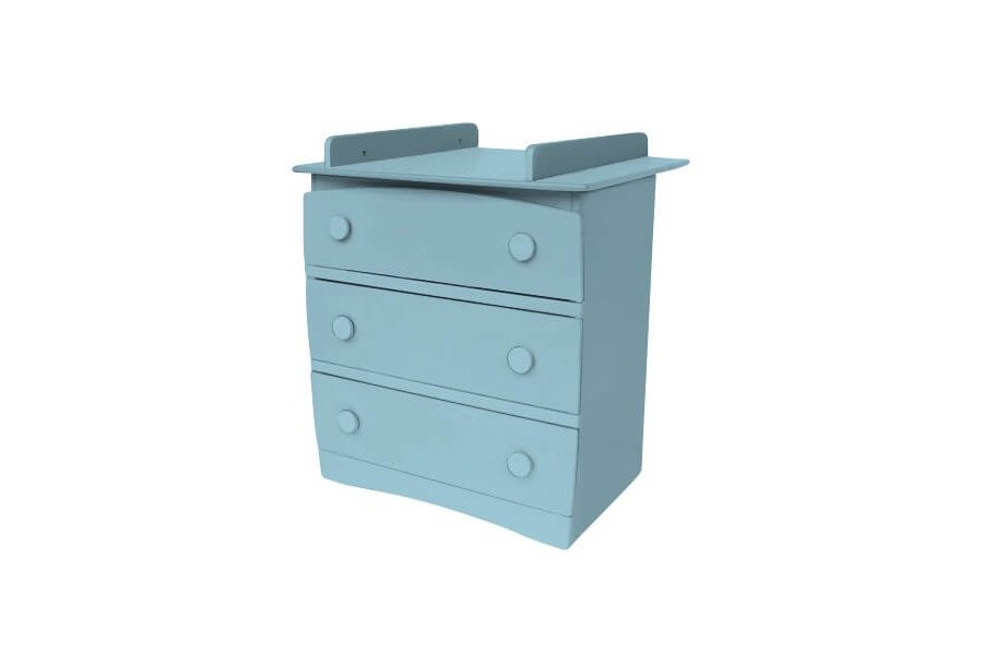 Commode Isla 3 tiroirs + table à langer
