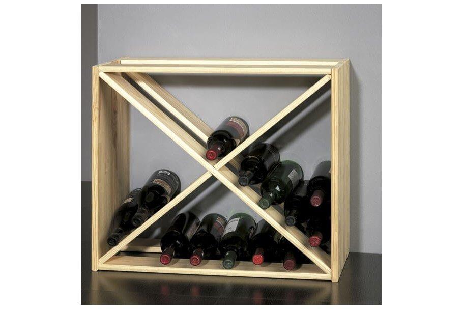 Porte-bouteilles bois 40 bouteilles Chardonnay