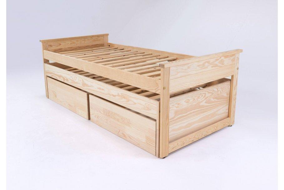 Lit Gigogne Maxi 90 x 200 cm + tiroirs