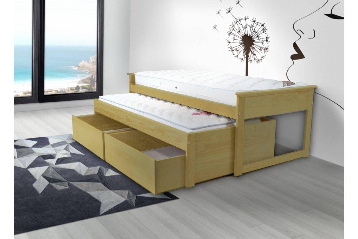 Cama nido 90x200 cm cajones madera abc meubles - Camas nido de 80 cm ...