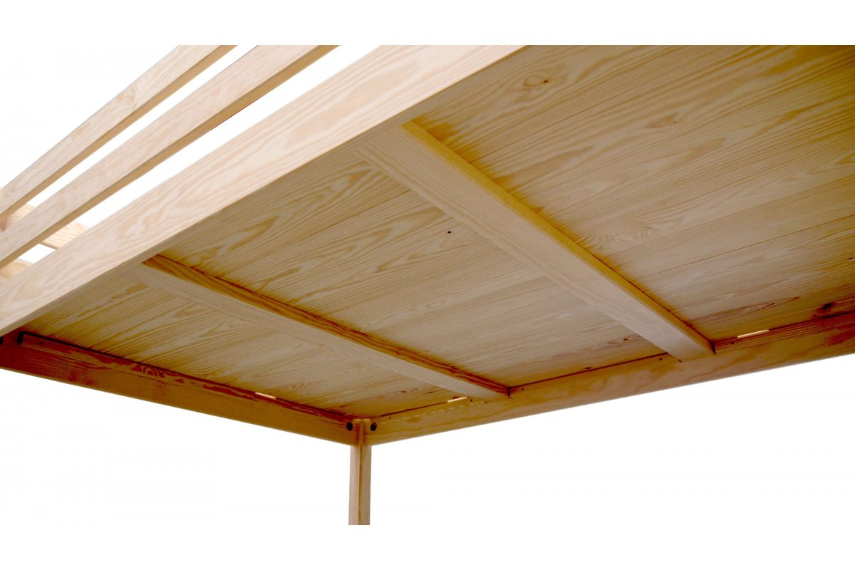 lit mezzanine sylvia avec escalier de meunier pin massif