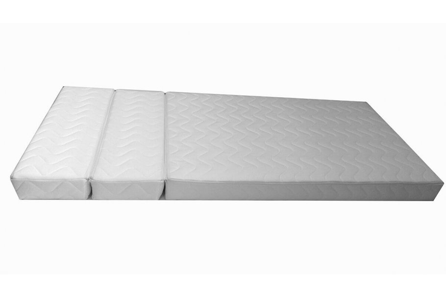 Matelas mousse pour lit évolutif en trois parties – 12 cm