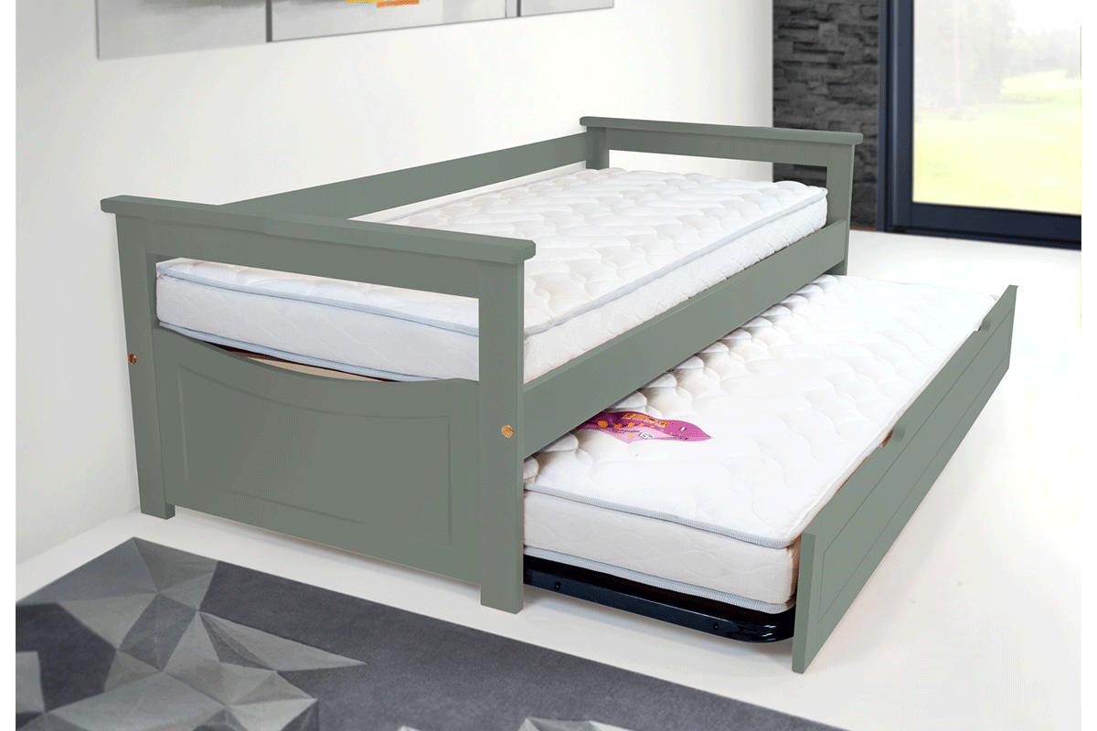 Lit gigogne topaze 80 x 190cm abc meubles - Lit gigogne discount ...